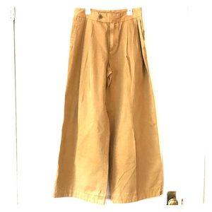 Free people wide leg trousers